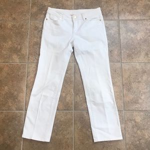Pristine Tory Burch White Cropped Jeans - 26